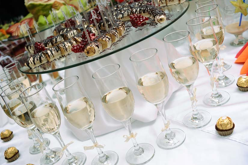 Event with champagne