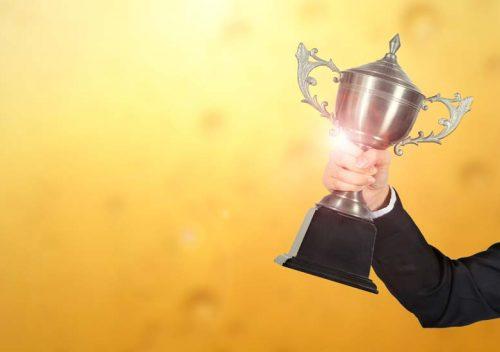 Reward trophy at work