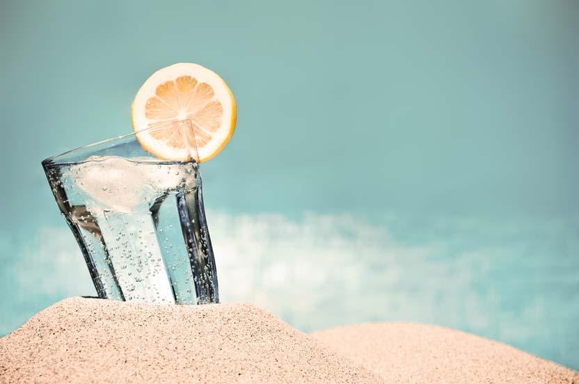 Glass on the beach